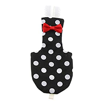joyMerit Vêtements d'Oiseau Couches de Poche Costumes pour Perruche Cockatiels Pigeons en Coton - Noir + Blanc, M