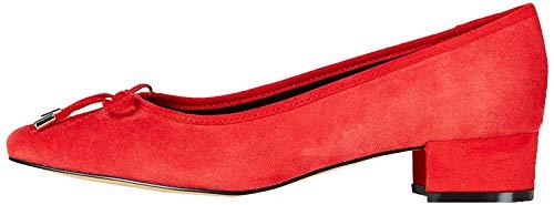 find. Mini Heel Leather Ballet Zapatos de Tacón, Rojo Red, 36 EU