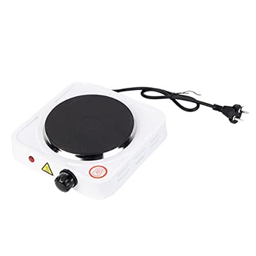 OocciShopp Calentador eléctrico portátil, Estufa eléctrica para café, 500 W, Temperatura Ajustable, calefacción, Cocina, Estufa, Horno eléctrico pequeño (Negro, Blanco)