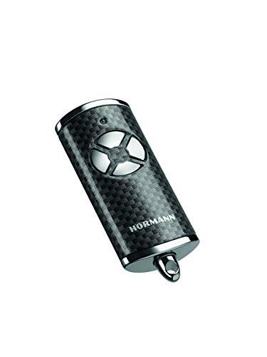 Hörmann Handsender HSE 4 BS (Frequenz 868 MHz, Hochglanz Carbon, Garagentorantrieb mit Chrom-Kappen, Batterien, Maße 28x70x14 mm, inkl. Schlüsselring) 4511585