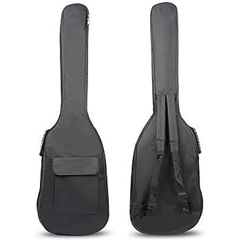 OriGlam - Funda tipo mochila para bajo eléctrico (109,2 cm). Blanda, impermeable, y con dos correas acolchadas y ajustables para el hombro.: Amazon.es: Instrumentos musicales