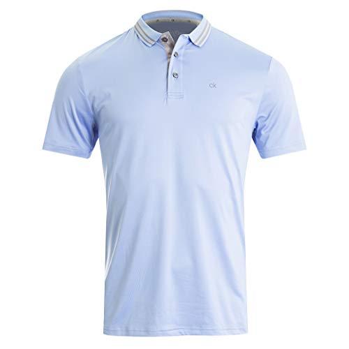 Calvin Klein Herren Madison Polo Golf-T-Shirt, himmelblau, X-Groß