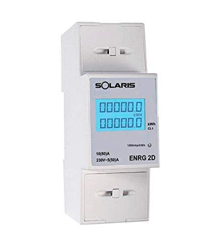 SOLARIS CONTATORE di ENERGIA MONOFASE Digitale 2 Moduli ENRG 2D