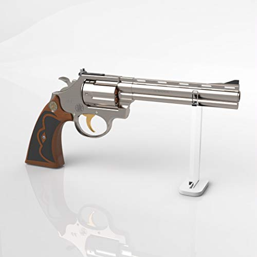 Plexico Pistol Revolver Display StandClear Gun Stand with White Base 11