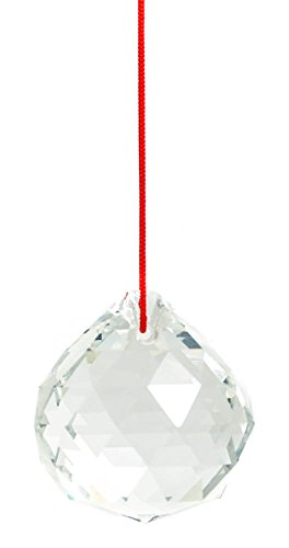 M.V. Trading 30mm Crystal Ball Prisms Pendant Feng Shui Suncatcher Decorating Hanging Faceted Prism Balls, Clear