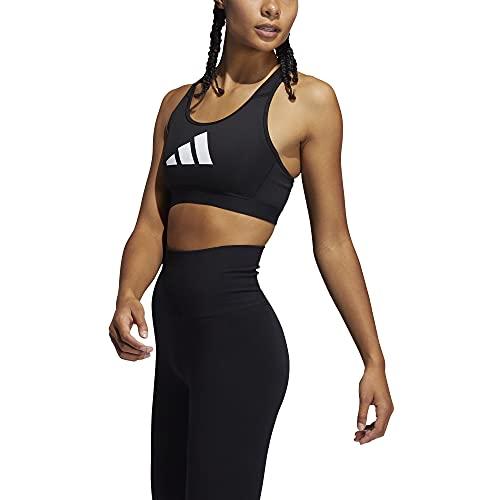 adidas,Womens,Don't Rest 3 Bar Bra,Black/Grey/White,Large