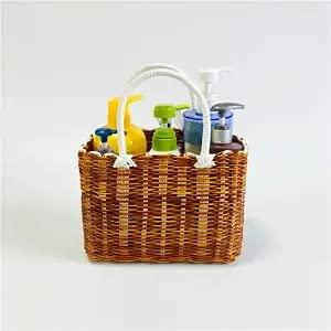 XKMY Cesta de baño, cesta de la compra, cesta de la compra, cesta de picnic, cesta de baño portátil, cesta de baño, cesta de almacenamiento de baño (color pequeño)
