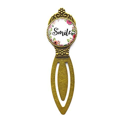 Segnalibro Smile Citazione, Sorridere, HapBookmarkess Citazione, Segnalibro Ridente, HapBookmarkess, cabochon in vetro #121