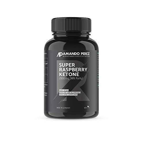 Super Raspberry Ketone 2500 mg • 60 vegane Kapseln • 98% reiner Aktivstoff • Made in Germany