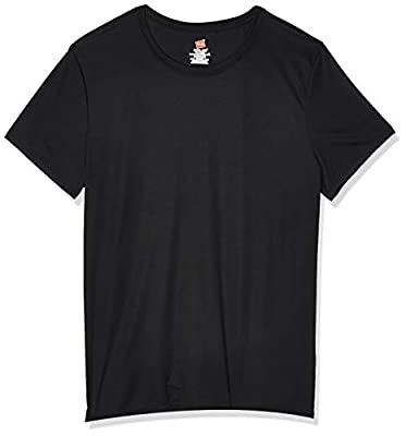 Hanes Sport Women's Short Sleeve Cool DRI Performance Tee, Black, Medium