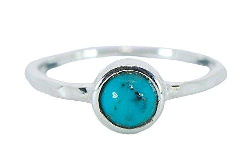 Pura Vida Boho Turquoise Stud .925 Sterling Silver Ring Size 7