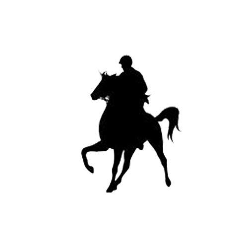 MCTYLI 8.4 * 11.8CM Vinyl Auto Decals Mode Paardensport Wedstrijd Vaulting Paard Rijden Zwart/Zilver