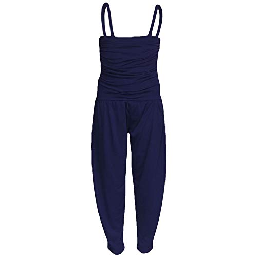 A2Z 4 Kids® Kinder Mädchen Overall Plain Marineblaue Farbe - Plain Jumpsuit Navy_11-12