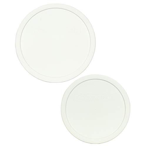 CorningWare (1) FS-1-PC 2.5Qt French White Lid and (1) F-5-PC 1.5Qt French White Lid