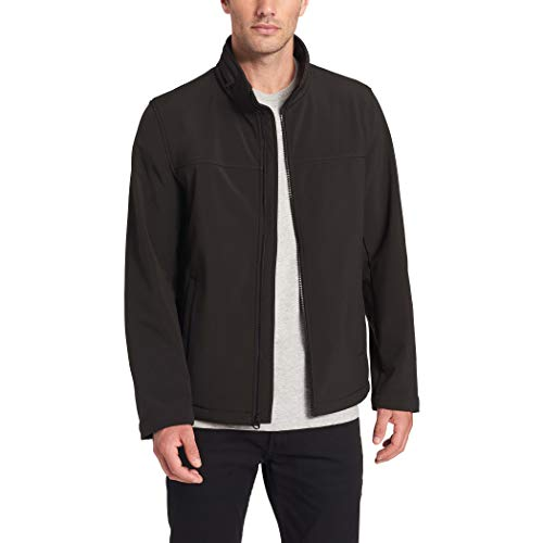 Dockers Men's 360 Series Performance Soft Shell Jacket (Regular and Big & Tall Sizes), Black, Small