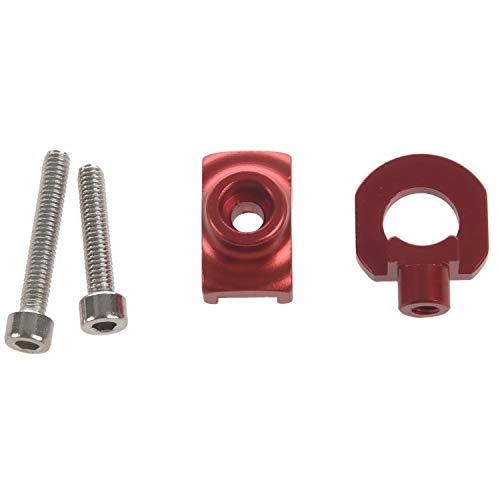 Gesh - Regolatore catena per bicicletta per catena singola, kit fisso, tendicatena, colore: rosso