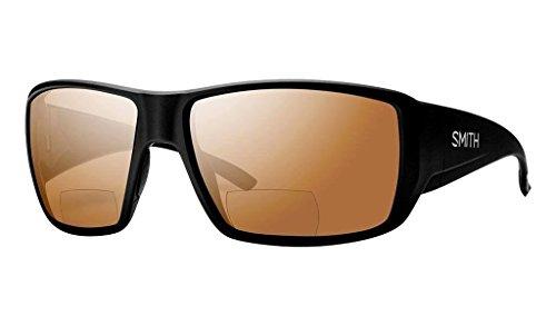 Smith Guides Choice Bifocal Polarized Sunglasses - Men's Matte Black/Copper Mirror 2.50 Polarized, One Size