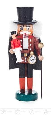 Nussknacker Drosselmeyer braun-schwarz Breite x Höhe x Tiefe 5 cmx13 cmx5 cm NEU Erzgebirge Nußknacker Weihnachtsfigur Holz