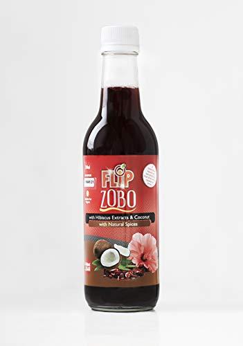 Flip Zobo 100% Natural Vegan Coconut & Hibiscus Botanical Fruit Juice Drink 330ml