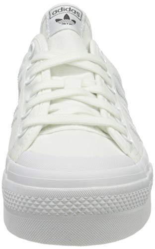 adidas Nizza Platform, Sneaker Mujer, Cloud White/Cloud White/Cloud White, 39 1/3 EU