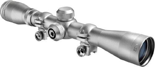 BARSKA 4x32 Plinker-22 Silver Scope w/ 3/8-Inch Rings
