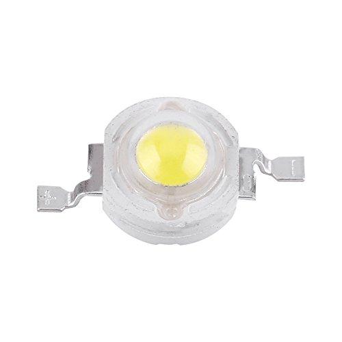 50 unidades de chip LED de alta potencia, de intensidad súper brillante SMD COB emisor de luz componentes diodo 1 W bombilla lámpara de luz chip DIY iluminación para foco de alta potencia