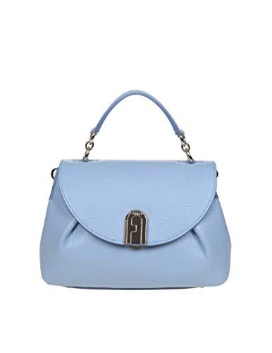 Luxury Fashion | Furla Dames 1044982 Blauw Leer Handtassen | Lente-zomer 20
