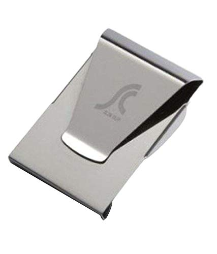 Artek Stainless Steel Slim Double Sided Credit Card Holder Wallet Money Clip (Silver, Chrome)