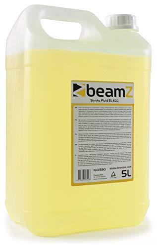 beamZ Nebelfluid - Nebelflüssigkeit, 5 Liter, CO2-Effekt, mitteldichter Nebel, schnelle Dispersion, ECO, geruchsneutral, biologisch abbaubar, geeignet für alle beamZ Nebelmaschinen, gelb
