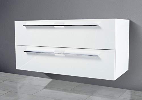 Intarbad ~ Waschtisch Unterschrank als Zubehör für MyStyle 60 cm Waschtisch Weiß Hochglanz Lack IB5115