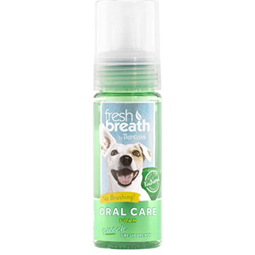 Tropiclean Fresh Breath Pet Mint Foam Plaque Remover