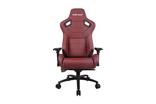 Anda Seat Kaiser Series Pro Black & Maroon-Premium - Silla de Escritorio de Oficina con Respaldo ergonómico, Asiento y Brazo de Ajuste de Altura para Juegos, Color Granate, XL