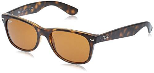 Ray Ban Unisex Sonnenbrille New Wayfarer, Gr. Large (Herstellergröße: 55), Braun (havana 710)