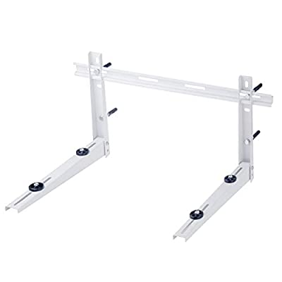 AC Parts Universal Outdoor Wall Mounting Bracket with Support Bar for Ductless Mini Split Air Conditioner Condenser Unit,Heat Pump Systems, Support up to 350lbs (7000-18000BTU)