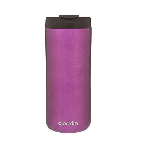 Aladdin Edelstahl-Thermobecher, 0.35 Liter, Lila, Doppelwandig Vakuumisoliert, Auslaufsicher, Spülmaschinenfest, Kaffeebecher Isolierbecher Thermo-Becher