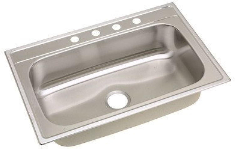 Elkay Dayton DSE12522 Single Bowl 25x22in Drop In Kitchen Sink Stainless Steel
