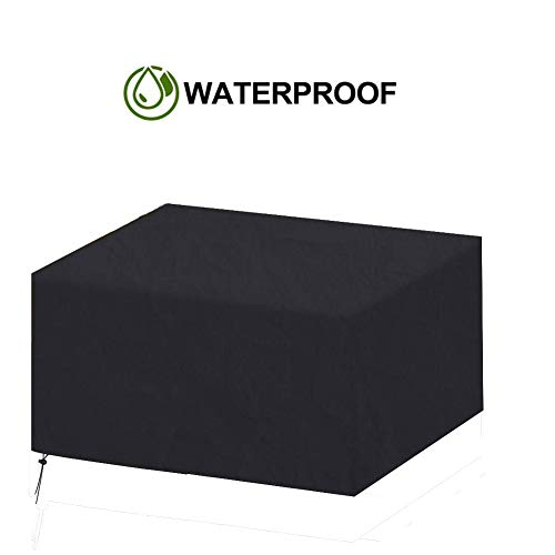 NINGWXQ Cube Tuinmeubelen Covers All Weather Waterproof Protective Cover eettafel Stoel Zwart, Meerdere Maten (Color : Black, Size : 160×130×90cm)
