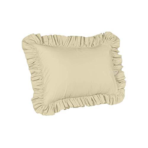 Best Price ShopBedding Ruffle Pillow case - Standard Pillow sham (Bone), Ruffle Pillow Cover.