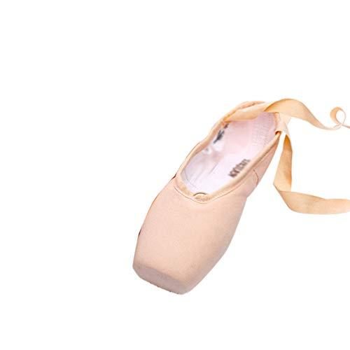 Mengmiao Scarpette da Ballerina Scarpe Danza Classica Scarpe da Ballo Scarpe da Punta per Bambini Adulti (Pink#2, Taglia 37)
