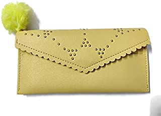 Clutch |Wallet | Hand Purse for girls/women in PU-Leather in Yellow Colour By Ragini Creations
