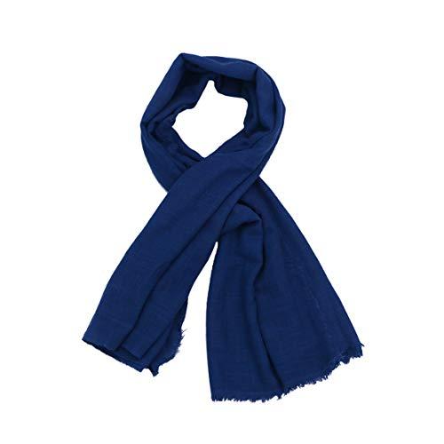 EXCEART Tela de Algodón de Lino Crepé Lavado para Coser Bordados Pantalones de Verano (Azul)