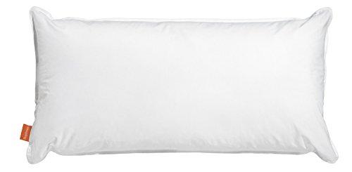 sleepling 190111 Wasserkissen Bezug aus 100% Baumwolle, 40 x 80 cm, weiß