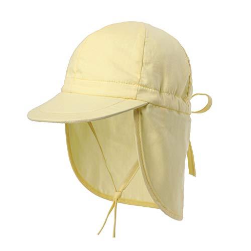 Cover Schirmmütze mit Nackenschutz Sonnenschutz Einfarbig Sonnenhut Sommerhut mit Kordelzug Verstellbar