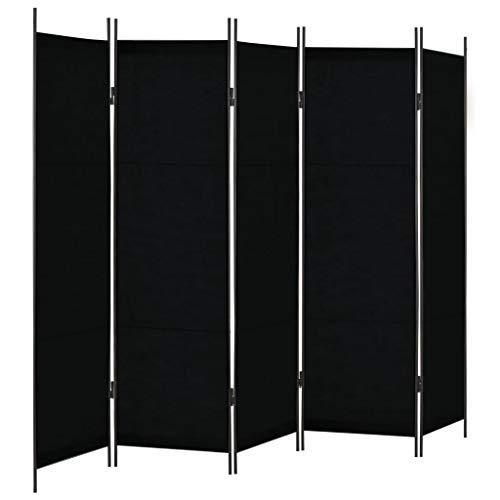 VidaXL Biombo 5 Paneles 250x180 cm Hogar Interior