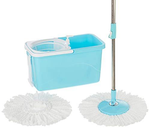 Amazon Brand - Presto! Spin Mop, Rectangular Bucket