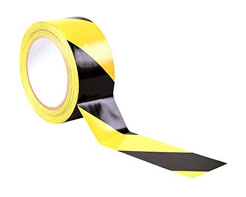 Gocableties Gefahren-Markierungs-Klebeband, Gestreiftes Warnband zur Boden- und Sicherheitsmarkierung, Schwarz-Gelb, 50mm x 33m