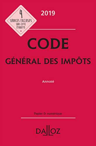 Code général des impôts 2019, annoté