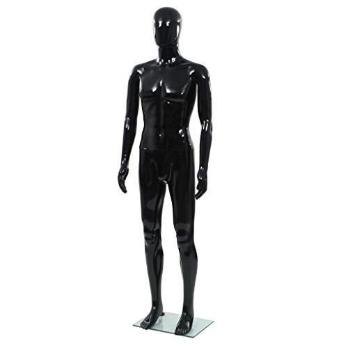 vidaXL Maniquí de Hombre Cuerpo Completo Negro 185 cm Muñeco Marioneta...