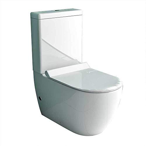 Alpenberger Set completo per WC con set Geberit + cassetta di scarico e sedile WC Soft-Close, con supporto WC profondo