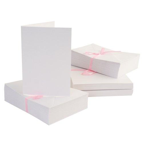 "50 6 /""x 6 Pulgadas Cuadrado Blancos 250gsm Tarjeta blanks+envelopes"
